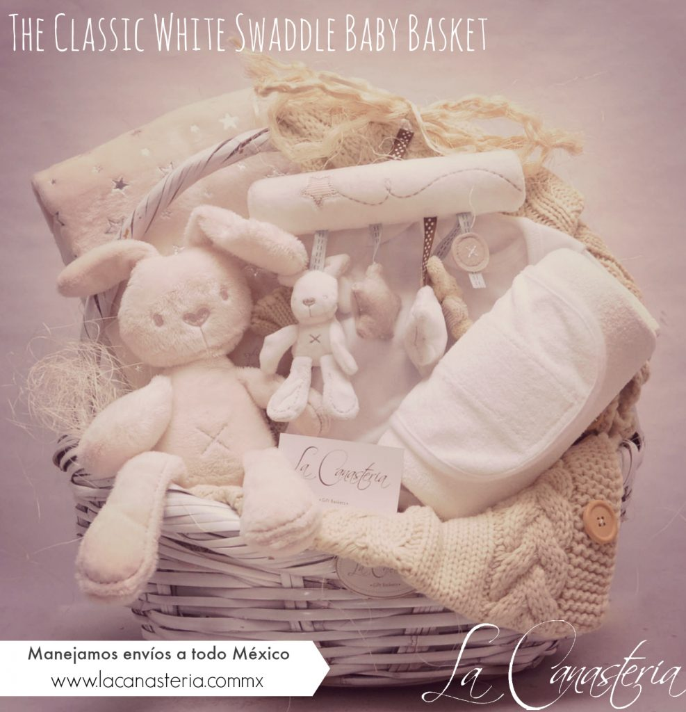 canastas de regalo para bebé, Canastas de Regalo para Bebé con colores neutrales
