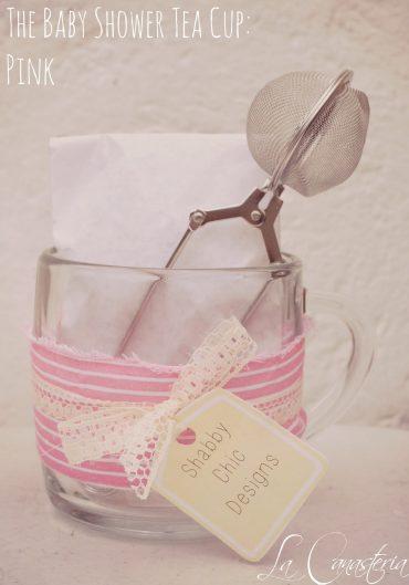 Recuerdo de Té para Baby Shower de Niña