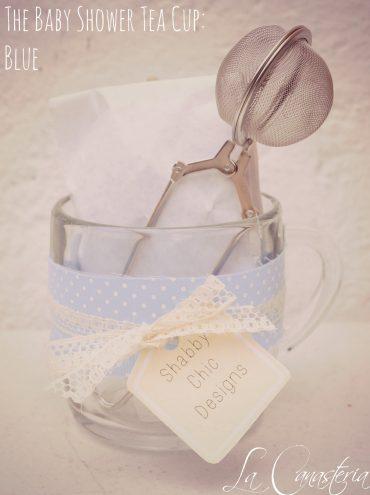 Recuerdo de Té para Baby Shower de Niño