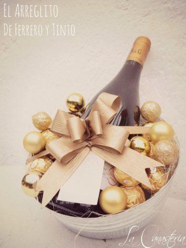 arreglos navideños para mujer, regalos corporativos navideños para mujer, regalos navideños finos, arreglos de vino finos,