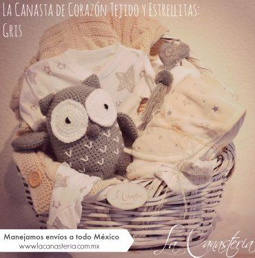 fina canasta de regalo para bebé con envíos a todo México