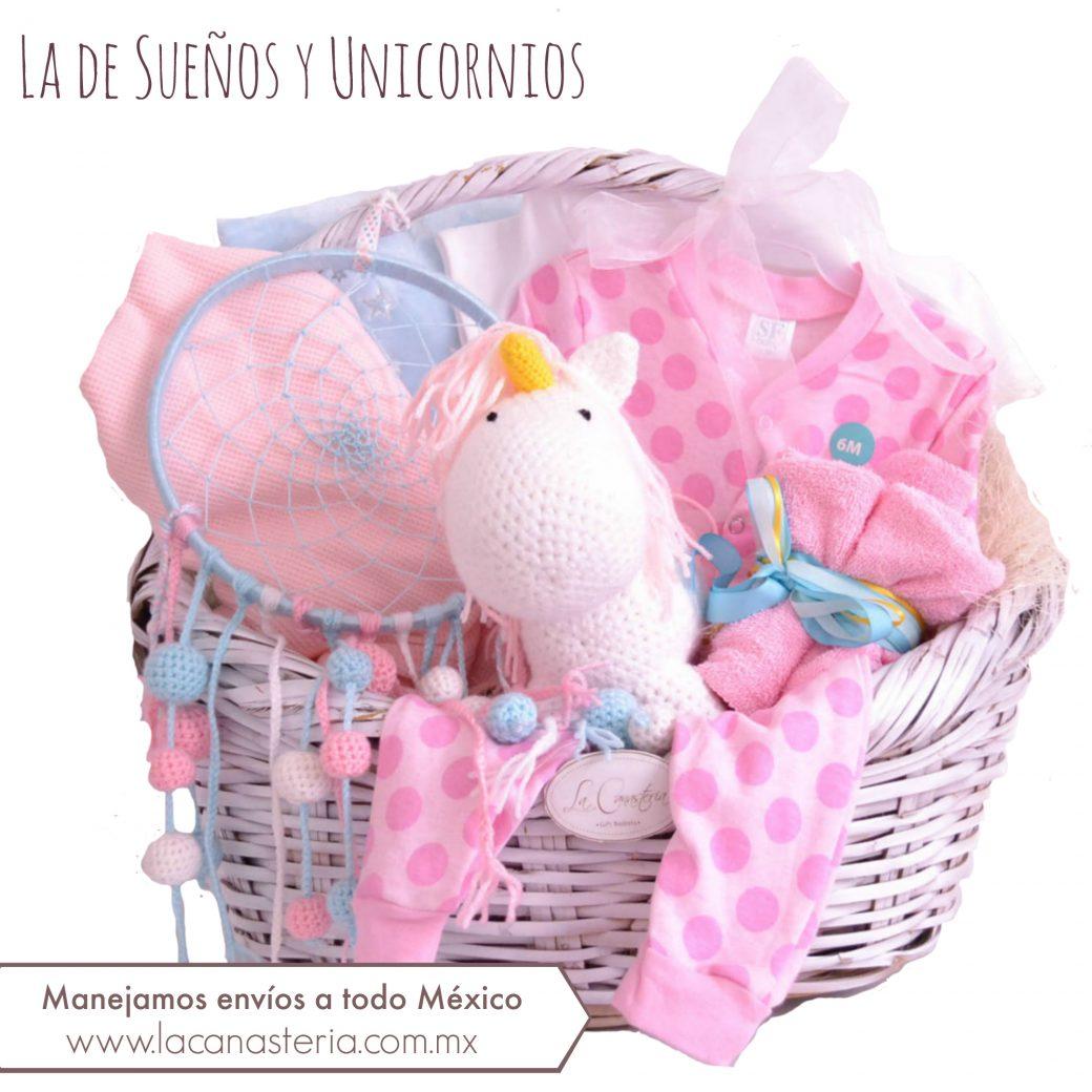 Canastas de regalo para bebé originales para niña