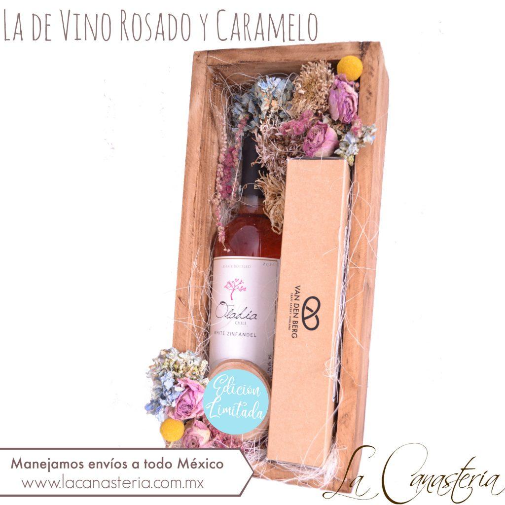 Arreglos de vino para regalos con diseño exclusivo para mujer. Envíos a todo México