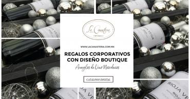 Arreglos de Vino Navideños para empresas