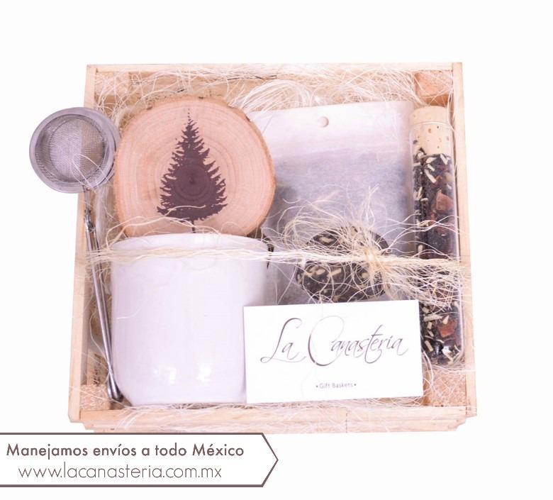 Regalos Navideños para empresas con Kits de Té, regalos navideños para empresas libres de alcohol, arcones navideños la cansasteria, cajas de regalo con kits de té