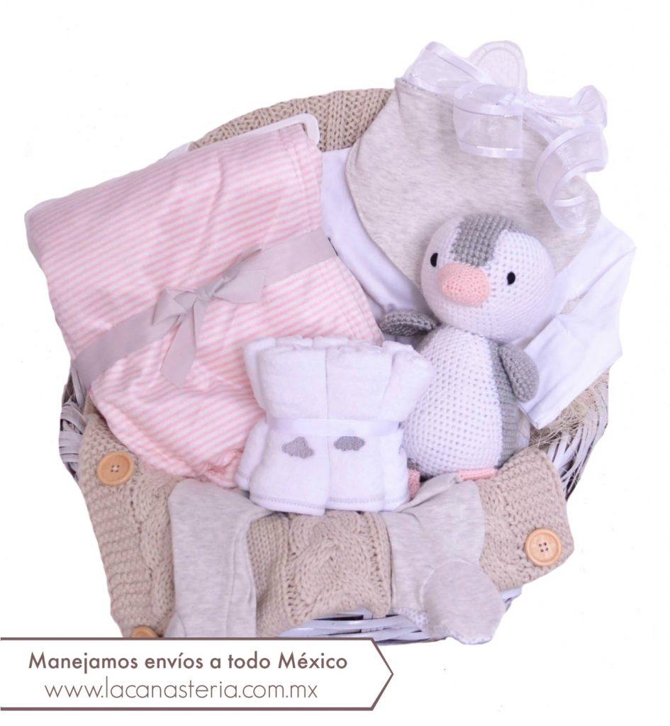 Canastas de regalo para bebé con entregas a domicilio en todo México.