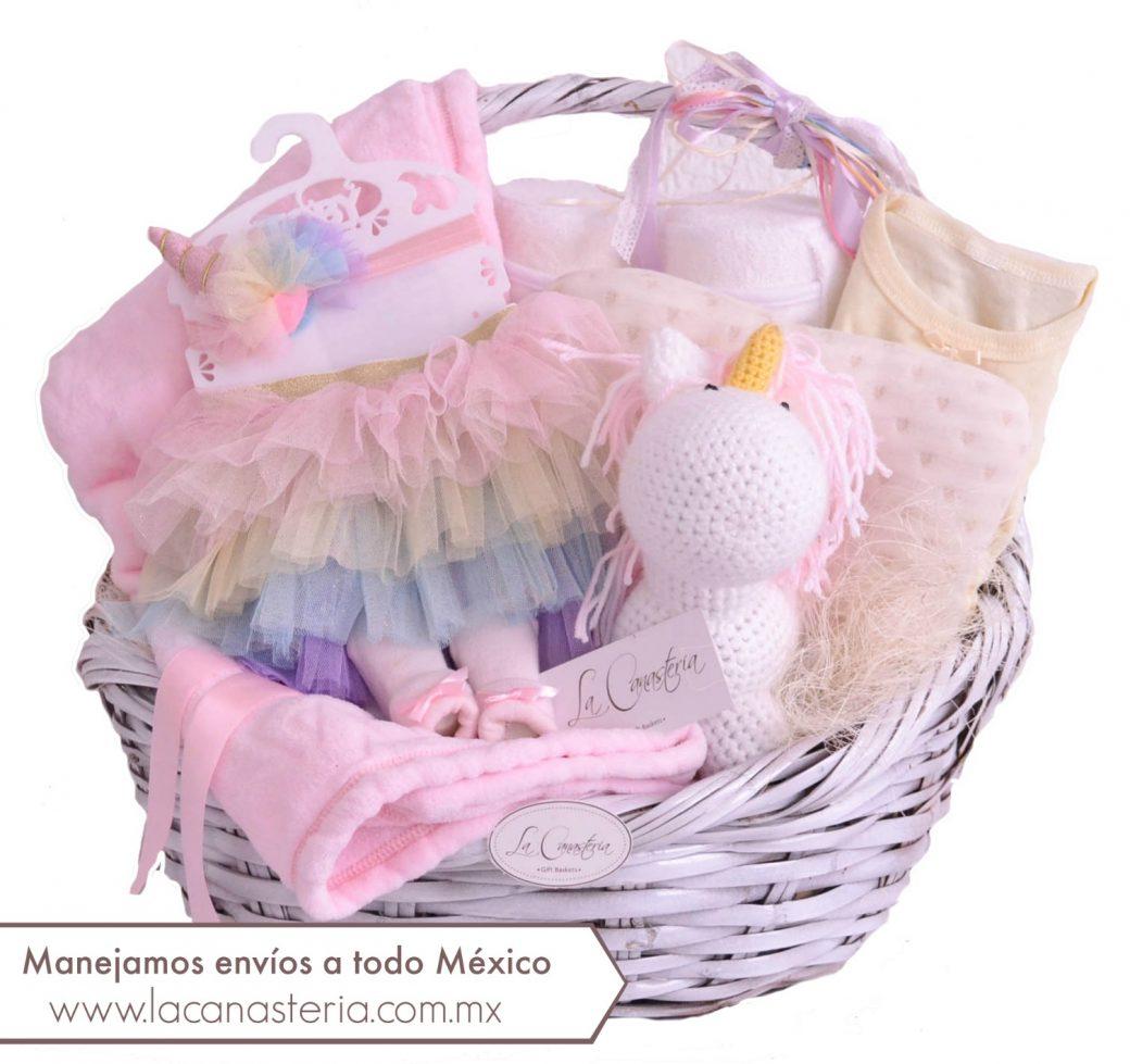 canastas de regalo para bebe niña
