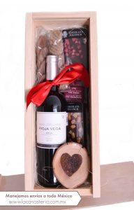 Cajas de regalo con vino para el 14 de Febrero