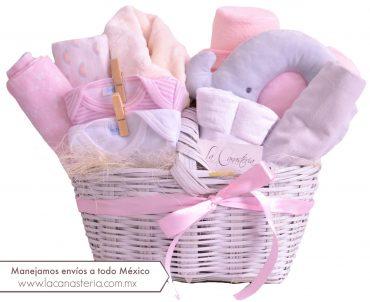 Canasta de regalo para niña recién nacida con envíos a todo México