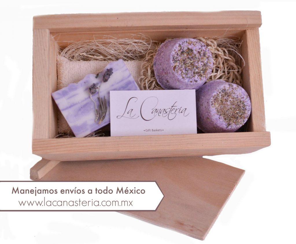 cajas de regalo con kits de spa para empresas, regalos corporativos socialmente responsables en México