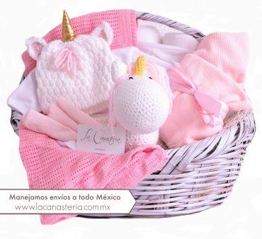 Canastas de regalo finas para niña recién nacida