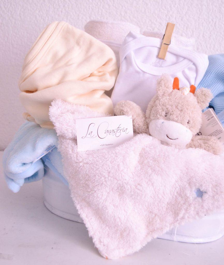 Hermosa canasta de regalo para bebé con envíos a todo México
