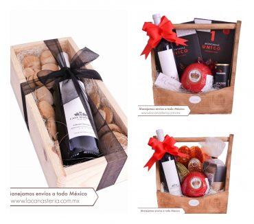 Arcones Navideños Premium con productos gourmet y con vino orgánico