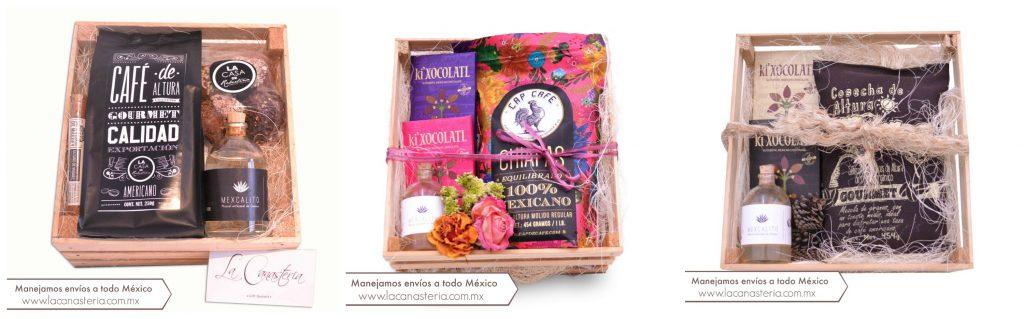 Cajas de regalo finas y originales con productos 100% Mexicanos para empresas con Kits de Mezcal