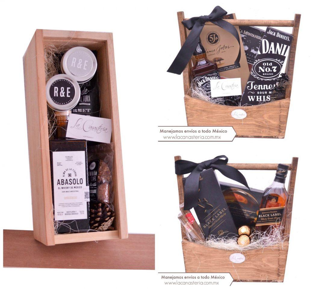 Arcones navideños para empresas con Whiskey